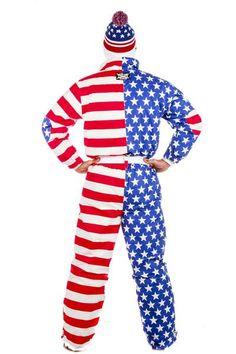 99c5e5e296a3 The Paul Revere American Flag One Piece Ski Suit - Shinesty Ski Onesie