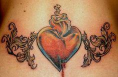 Lower Back Tattoos Designs: lower back tattoo heart Heart Tattoo Images, Heart Tattoo Designs, Heart Tattoos, Lower Back Tattoo Designs, Lower Back Tattoos, Girl Tattoos, Tatting, Ink, Creative