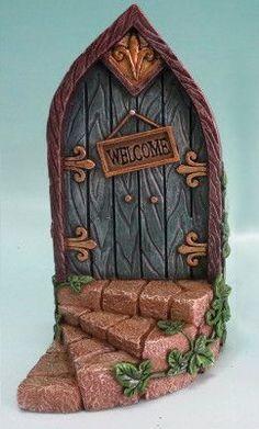 Fairy Mini Garden Door with Welcome Sign