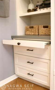 A Pull Out Shelf Is Practical Design Detail For Built In As It Gives