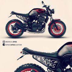 "@space.apes no Instagram: ""Scrambler project by @leandro.ota #motorcycle #bikerlife #moto #motorcycles #instamotogallery #instamotorcycle #custom #bikersofinstagram #suzuki #bandit600 #bandit1200 #bandit #dropmoto #scramblerstrackers #tracker #lifestyle #loveforbikes #classicbike #custombike #scrambler #caferacer #bratstyle #caferacerbrasil #instamoto #toysforboys #kustomkulture #motocustom #pipeburn #bikeexif"