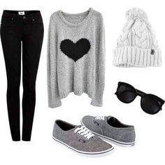 Daily New Fashion : Lovely Polyvore Outfits for Fall/Winter