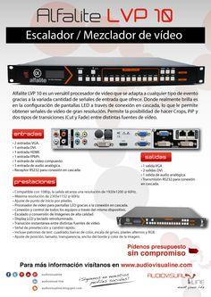 Escalador de vídeo Alfalite LVP 10, ideal para configurar tus pantallas de LED y LED walls. Se adapta a cualquier tamaño de imagen ya que es compatible con 1080p y alcanza una resolución máxima de salida de 2305×1152 a 60 Hz. Además, ofrece la opción de seleccionar el punto de inicio por píxeles. Más allá de los displays LED, el LVP 10 de Alfalite se presenta como un escalador y mezclador de vídeo todoterreno.