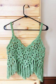 cotton lace crop top custom made summer fashion by MelmariaDesigns