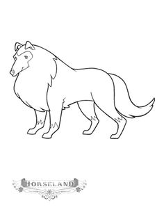 Coloring Page Tv Series Horseland