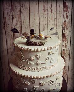 Hummingbird Wedding Cake Topper-Humming Birds-Fall Autumn Wedding Cake Topper. $30.00, via Etsy.