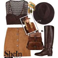 How To Wear Coffee Stylish Fedora Hat Outfit Idea 2017 - Fashion Trends Ready To Wear For Plus Size, Curvy Women Over 20, 30, 40, 50