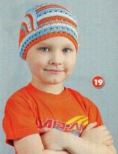 вязание крючком летние шапочки детям