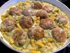 Jednogarnkowe klopsiki z makaronem w sosie koperkowym - Blog z apetytem Food And Drink, Tasty, Cooking, Ethnic Recipes, Blog, Foods, Food, Lilac, Dumplings