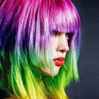 Tips for Maintaining Bright Hair Color. I seriously recommend this to anybody with bright hair.(especially since I'm going bright red soon) Ombre Highlights, Rainbow Highlights, Dip Dye Hair, Dyed Hair, Pelo Multicolor, Color Fantasia, Bright Hair Colors, Colorful Hair, Hair Colours