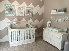 About it more baby nursery grey, elephant nursery boy, mint green nursery,