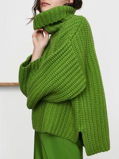Green Turtleneck, Long Sleeve Turtleneck, Green Sweater, Casual Sweaters, Casual Tops, Sweaters For Women, Elegant Maxi Dress, Sweater Design, Sweater Shop