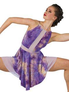 Harmony Lyrical Dance Costume Apricot Tie Dye Ballet Child 6X7 Adult XL