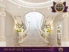 Brilliant Entrance Hall With A Gorgeous Stairway! Dramatic floating staircase…