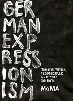 MoMA German Expressionism by Tom Storoniak, via Behance -PAINTING WORDS