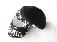 Baby booties made from Beatles fabric elegant handmade by bootki