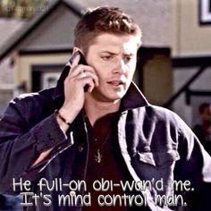 Made by Krysta Taylor  Supernatural-Simon Said Season 2 He full on obi-wand me! #supernatural #samwinchester #deanwinchester