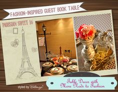 Parisian Guestbook Table and Table Setting   the Party Suite at Bellenza