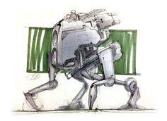 Mech Sketch by emevans4 on deviantART