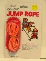 Chinese jump rope.