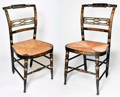 Beautiful pair of vintage Hitchcock chairs