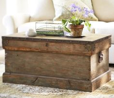wood trunk as coffee table