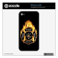 Fire Department Flaming Gold Badge Decal For iPhone 4S  gift for firefighter diy, firefighter games, firefighter thanksgiving #militarydad #bunkergearblanket #firefighterwife, 4th of july party Firefighter Games, Firefighter Quotes, 4th Of July Party, Fire Department, Iphone 4s, Family Quotes, Bible Quotes, Relationship Quotes, Badge