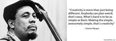 Charles Mingus on creativity