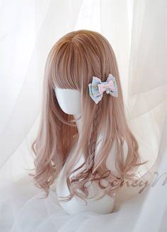 Monkeep - Honey Melody - Lolita Curly Wig - Sold Out,Lolita Wigs,Lolita Accessories Kawaii Hairstyles, Pretty Hairstyles, Wig Hairstyles, Anime Wigs, Anime Hair, Cosplay Hair, Cosplay Wigs, Kawaii Wigs, Lolita Hair
