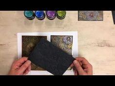Het WAUW-effect van gilding wax op 3D embossingfolders | COOSA Creatief Inka Gold, Gilding Wax, Mixed Media Tutorials, Workshop, Stamp, Cards, Diy, Youtube, Flowers