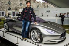 Mark Webber Goodwood 2012 Infiniti Europe