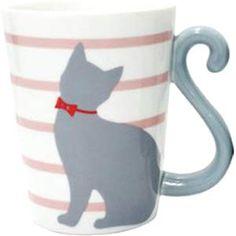 Cat Tail Mug Cup (Pink)