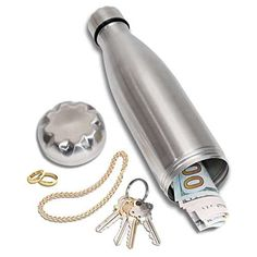 Diversion Water Bottle Can Safe by Stash-it, Stainless Steel Tumbler with Hiding Spot for Money, Bonus Smell Proof Bag, Discreet Decoy for Travel or at Home, Bottom Unscrews to Store Your Valuables Secret Hiding Places, Hiding Spots, Aluminum Water Bottles, Steel Water Bottle, Can Safe, Diversion Safe, Hidden Safe, Hide Money, Secret Safe