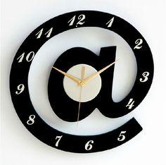 Creative letters @ 12 Inch Black Wood Digital Wall Clock Modern Design Decorative Kids Diy Wall Clocks Bedroom Clocks Home Decor Big Wall Clocks, Cool Clocks, Clock Wall, Hanging Clock, Unusual Clocks, Wall Clock Online, Diy Clock, Wall Clock Design, Wooden Clock