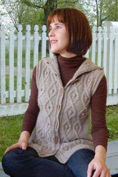 Sleeveless Cable Hoodie to Knit PDF Pattern Instant by ValLove, $7.00