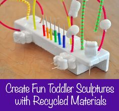 Learn how to create one-of-a-kind sculptures with your child using recycled packing materials.