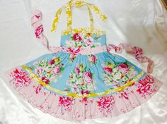 Girl Dress Size 5; Peggy Ellie Halter; Handmade; Everyday Use; 100 % Cotton #Handmade #Everyday