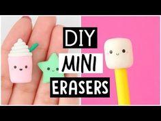 DIY MINI ERASERS - Back To School Supplies 2017! - YouTube