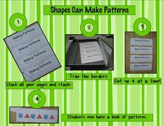LOVE this idea! I am going to have my Kinders compelte one page a day as independent work after completing their other math work. They will have a completed book by the end of the week! - Pattern strips