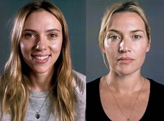 Scarlett Johansson Natural Energy 9 & Kate Winslet Natural Energy 8 For more information on Natural Energy see 9energies.com by Chuck Close for Vanity Fair