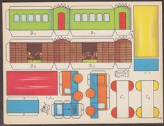 """German Cut out, train, Liebe Kinder, Schenkt der Bavaria-Apotheke, 6 by 8 """""""
