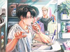 Shingeki no kyojin (Erwin,Levi) Cr:tw: - Trend Zeichnungen Mdchen 2020 Attack On Titan Funny, Attack On Titan Ships, Attack On Titan Fanart, Fanarts Anime, Manga Anime, Vintage Anime, Eren Aot, Levi And Erwin, Hxh Characters