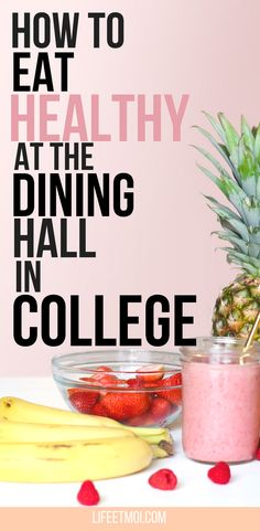 If you're an incoming freshman, you will probably eat at the dining hall your first year of college. And let me tell you, the freshman 15 is real and eating healthy at the dining hall can be tricky sometimes. So here are some tips to eat healthy at the dining hall.
