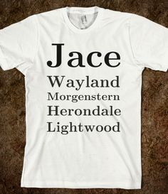 Jace Wayland Morgenstern Herondale Lightwood