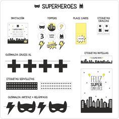... + Nina Designs + Parties: FIESTA SUPERHÉROES