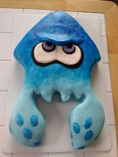 Splatoon Brithday Cake - Blue Squidling