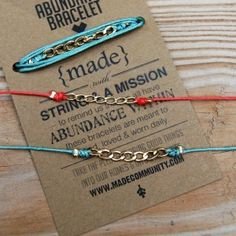 Abundance Chain Bracelets By Made Community Great For Stacking Bracelet Packaging Jewelry