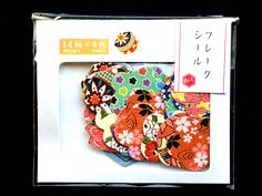 Sticker Flakes - Flower Stickers - Japanese Stickers - Chiyogami Paper Stickers - Yuzen - Kimono Dress Patterns (S274) by FromJapanWithLove on Etsy