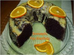 Chocolate Cake with Orange Glaze Group Meals, Cupcake Cakes, Bundt Cakes, Cupcakes, Greek Recipes, Bon Appetit, Nutella, Cake Recipes, Deserts