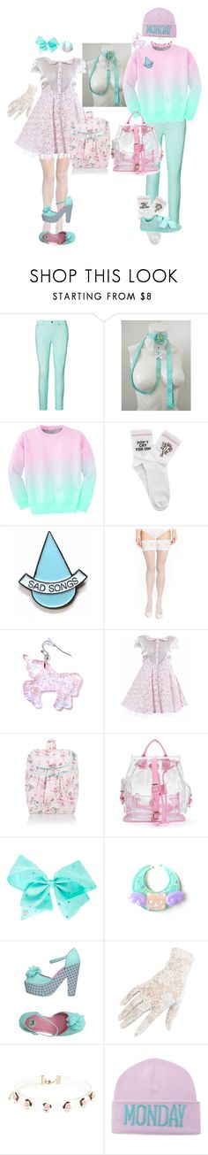 """""""Two Mint + Pink Baby Girly Coords"""" by pastel-tea on Polyvore featuring Ralph Lauren, Aloha From Deer, Yeah Bunny, Stay Home Club, Wolford, Elena Perseil, Monsoon, SIWA, T.U.K. and Black"""